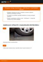 Kako zamenjati avtodel ležaj amortizerja spredaj na avtu VW Sharan 1 – vodnik menjave