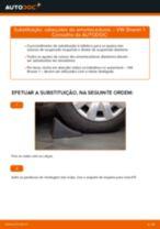 Como mudar cabeçotes do amortecedores da parte dianteira em VW Sharan 1 - guia de substituição