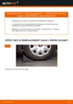 Tutoriel PDF étape par étape sur le changement de Filtre à Carburant sur KIA SORENTO I (JC)