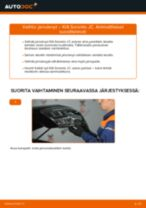 Online-ohjekirja, kuinka vaihtaa Ilmansuodatin KIA SORENTO I (JC) -malliin
