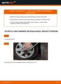Kuinka vaihtaa Iskunvaimentimet A 180 CDI 2.0 (169.007, 169.307) Mercedes W169 -autoon