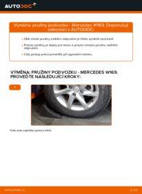 Jak provést výměnu: Odpruzeni na A 180 CDI 2.0 (169.007, 169.307) Mercedes W169