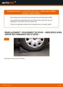 Comment effectuer un remplacement de Roulement De Roues sur A 180 CDI 2.0 (169.007, 169.307) Mercedes W169