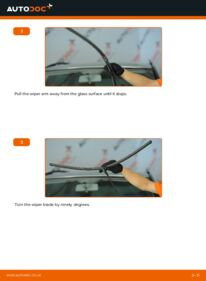 How to carry out replacement: Wiper Blades on 1.9 TDI VW Sharan 1
