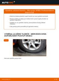 Jak provést výměnu: Uložení Tlumičů na A 180 CDI 2.0 (169.007, 169.307) Mercedes W169
