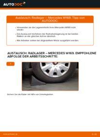 Wie der Wechsel durchführt wird: Radlager A 180 CDI 2.0 (169.007, 169.307) Mercedes W169 tauschen