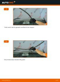 Hvordan man udfører udskiftning af: Viskerblade på 1.9 TDI VW Sharan 1