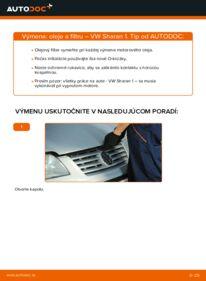 Ako vykonať výmenu: Olejový filter na 1.9 TDI VW Sharan 1