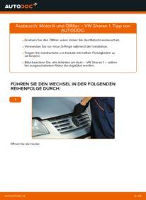 Wie der Wechsel durchführt wird: Ölfilter VW Sharan 1 1.9 TDI 2.0 TDI 1.8 T 20V tauschen