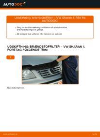 Hvordan man udfører udskiftning af: Brændstoffilter på 1.9 TDI VW Sharan 1