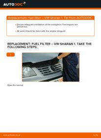 How to carry out replacement: Fuel Filter on 1.9 TDI VW Sharan 1