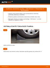 Kaip atlikti keitimą: 1.9 TDI VW Sharan 1 Amortizatoriaus Atraminis Guolis