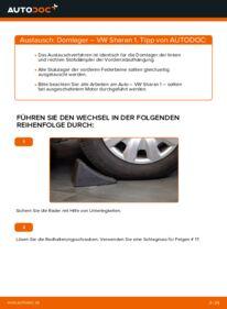 Wie der Wechsel durchführt wird: Domlager VW Sharan 1 1.9 TDI 2.0 TDI 1.8 T 20V tauschen