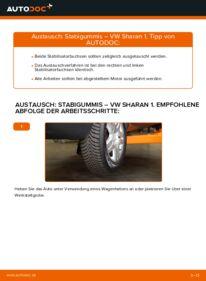 Wie der Wechsel durchführt wird: Stabigummis VW Sharan 1 1.9 TDI 2.0 TDI 1.8 T 20V tauschen