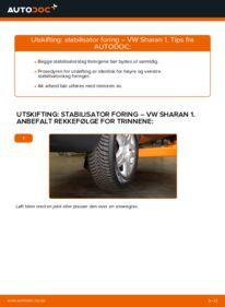 Slik bytter du Stabilisator Foring på VW SHARAN