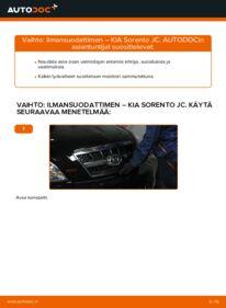 Kuinka vaihtaa Ilmansuodatin 2.5 CRDi KIA Sorento jc -autoon