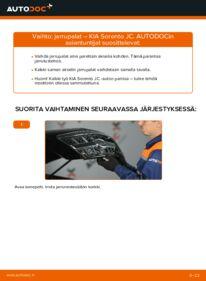 Kuinka vaihtaa Jarrupalat 2.5 CRDi KIA Sorento jc -autoon
