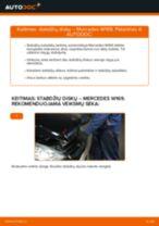 Kaip pakeisti Mercedes W169 stabdžių diskų: priekis - keitimo instrukcija