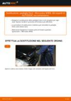Come cambiare pastiglie freno della parte anteriore su Mercedes W169 - Guida alla sostituzione