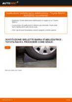 Come cambiare biellette barra stabilizzatrice della parte anteriore su Toyota RAV4 II - Guida alla sostituzione