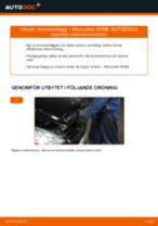 Hur byter man och justera Bromsklossar MERCEDES-BENZ A-CLASS: pdf instruktioner