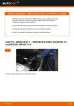 Kuinka vaihtaa ja säätää Etujarrulevyt ja takajarrulevyt MERCEDES-BENZ A-CLASS: pdf-opas