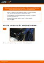 Mudar Pastilhas De Travão MERCEDES-BENZ A-CLASS: manual técnico
