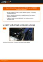 Elülső fékbetétek-csere Mercedes W169 gépkocsin – Útmutató