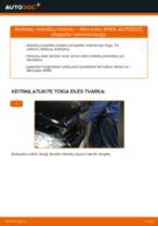 Pakeisti Stabdžių Kaladėlės MERCEDES-BENZ A-CLASS: instrukcija