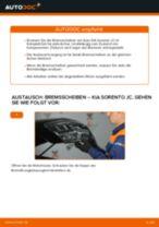 KIA SORENTO I (JC) Bremsbacken wechseln vorne und hinten Anleitung pdf