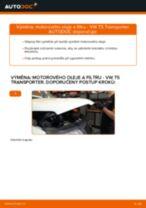 Jak vyměnit motorový olej a olejový filtr na VW T5 Transporter – návod k výměně
