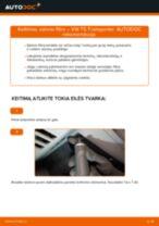 Pakeisti Oro filtras, keleivio vieta VW TRANSPORTER: instrukcija