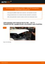 Hoe Oliefilter motor vervangen en installeren VW TRANSPORTER: pdf tutorial