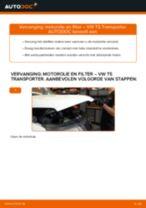 Ruitenwissers vervangen VW TRANSPORTER: werkplaatshandboek