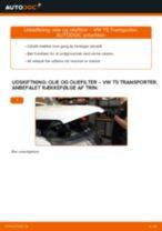 Udskift motorolie og filter - VW T5 Transporter | Brugeranvisning