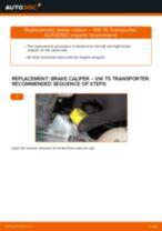 Step by step PDF-tutorial on Brake Caliper Repair Kit CHRYSLER Pacifica MPV replacement