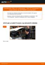 Tutorial de reparo e manutenção VW T4 Camião de plataforma