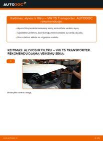 Kaip atlikti keitimą: 2.5 TDI VW T5 Van Alyvos filtras