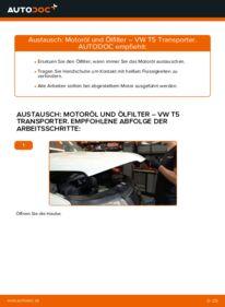Wie der Wechsel durchführt wird: Ölfilter 2.5 TDI VW T5 Kasten tauschen
