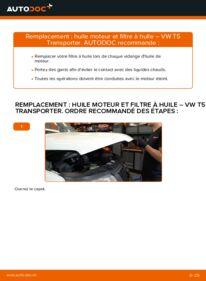 Comment effectuer un remplacement de Filtre à Huile sur 2.5 TDI VW Transporter T5