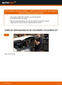 Vervangen: Brandstoffilter VW TRANSPORTER