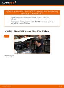 Jak provést výměnu: Palivový filtr na 2.5 TDI VW T5 Van
