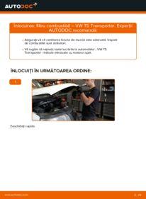Cum să efectuați înlocuirea: Filtru combustibil la 2.5 TDI VW T5 Van
