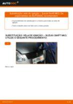 Manual DIY sobre como substituir o Filtro de Combustível no SUZUKI SWIFT III (MZ, EZ)