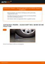 Empfehlungen des Automechanikers zum Wechsel von SUZUKI Suzuki Swift 3 1.3 DDiS (RS 413D) Federn