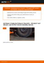 Automechanikų rekomendacijos PEUGEOT Peugeot 407 Sedan 1.6 HDi 110 Stabdžių Kaladėlės keitimui