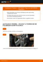 Federn erneuern VW GOLF: Werkstatthandbücher