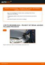 Bilmekanikers rekommendationer om att byta PEUGEOT Peugeot 407 Sedan 1.6 HDi 110 Bromsbelägg