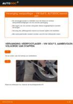 Hoe veerpootlager vooraan vervangen bij een VW Golf 5 – Leidraad voor bij het vervangen