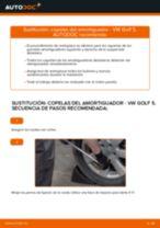 Cómo cambiar: copelas del amortiguador de la parte delantera - VW Golf 5 | Guía de sustitución